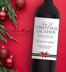 teacher christmas gift custom wine label wine label for