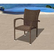 atlantic bari resin wicker stacking patio dining arm chairs set