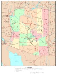 Arizona California Map by Arizona Political Map