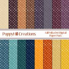 fall polka dot digital paper pack poppyhill creations