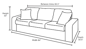 Couch Measurements | standard sofa size perfect sofa dimensions standard couch styles
