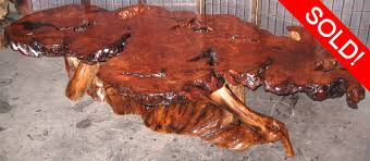 Redwood Coffee Table Redwood Burl By Artisan Burlwood