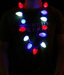 led patriotic bulb necklace central
