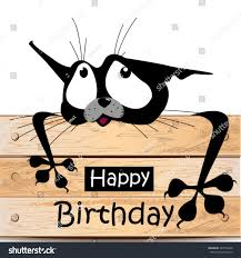 happy birthday card cat smile stock vector 397756642 shutterstock