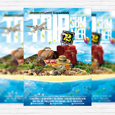 island brochure template trip 2 summer premium flyer template cover