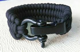 survival bracelet with buckle images Trilobite paracord bracelet with black bow shackle adjustable size jpg