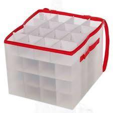 Christmas Bauble Storage Box Argos by Christmas Decoration Storage Ebay