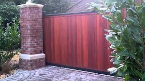 best ideas of sliding wooden fence gate u2014 fence ideas fence ideas