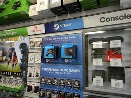 digital steam gift card here s what gamestop s steam hardware section looks like gamespot