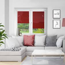 ruby red perfect fit venetian blind