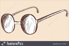 old spectacles sketch stock illustration i4116143 at featurepics
