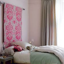 Inexpensive Headboards For Beds Smart Idea Hang Fabric Behind Your Bed As A Cheap And Easy