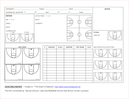 5 basketball scouting report templatereport template document