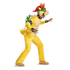 Super Mario Halloween Costume Amazon Disguise Men U0027s Bowser Deluxe Costume Clothing