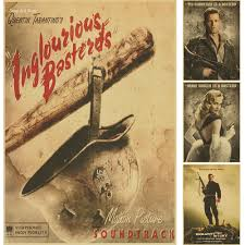 home decor vintage paper poster inglourious basterds classic old home decor vintage paper poster inglourious basterds classic old movie posters retro nostalgia kraft in wall stickers from home garden on aliexpress com