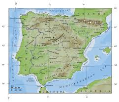 Map Of Spain And France by Elevation Map Of Portugal And Spain Portugal Europe Mapsland