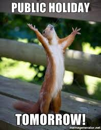 Looking Up Meme - public holiday tomorrow squirrel looking up meme generator