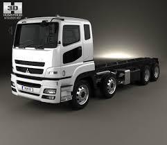 mitsubishi truck 2004 mitsubishi fuso heavy chassis truck 2017 3d model hum3d