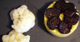 cuisiner les feuilles de chou fleur recette de polenta au chou fleur et tranches de boudin noir