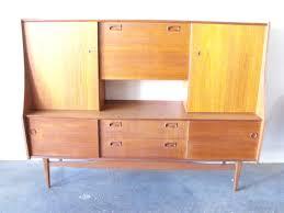 mid century teak sideboard bar cabinet amsterdam modern