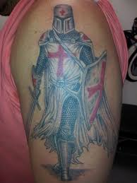 knight burial with shield templar knight arm tattoo book