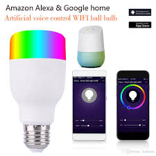 alexa controlled light bulbs smart led bulb e27 rgbw llights sound control by alexa echo and
