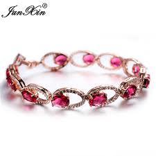 rose stone bracelet images Buy junxin top quality green red black oval jpg