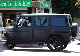 matte black mercedes g class jenner takes mercedes g class suv out for a spin