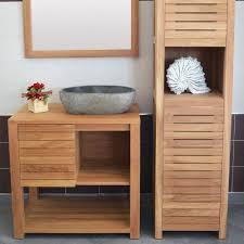meubles en teck massif meuble sous vasque en teck massif univers asie spécialiste en