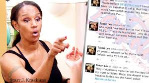 lights to a shadow the takari lee christie story jackie christie s takari lee daughter blasts her on twitter after