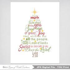 christmas tree printable scripture art with luke 2 bible verse