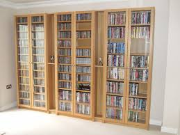 Ikea White Bookcase With Glass Doors by Dvd Cabinet With Doors Ikea Best Home Furniture Decoration