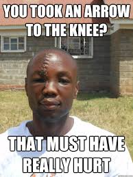 Must Have Memes - you took an arrow to the knee that must have really hurt omari