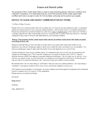 generic cease and desist letter template template sample