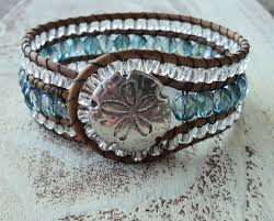 beaded cuff bracelet blue and silver cuff cowgirl jewelry