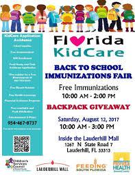 florida kidcare back to immunizations fair salud al dia