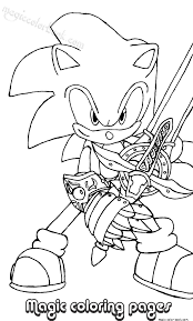 sonic coloring pages warrior free