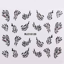 wholesale 24 styles glitter feather leopard butterfly nail 3d