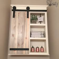 Bathrooms With Storage Diy Sliding Barn Door Bathroom Cabinet Shanty 2 Chic