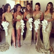of honor dresses save on 2017 gold sequin bridesmaid dresses mermaid 5 styles for