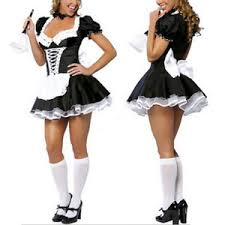 Halloween Costumes Lingerie French Maid Cosplay Servant Dress Lingerie Halloween Costume