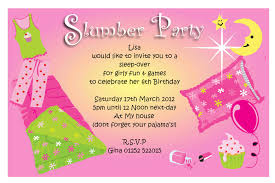 cute slumber party invitations birthday party dresses luau slumber