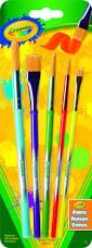 crayola 5ct art and craft brush set kringles inc