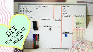diy cute homeschool white board youtube