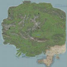 Dayz Maps Panthera Island Map Composite Of Screencaps Of In Game Map Dayz