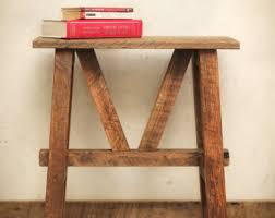 Reclaimed Wood Side Table Round Side Table Reclaimed Wood Bedside Table Beside