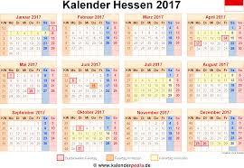 Kalender 2018 Hessen Brückentage Kalender 2017 Hessen Ferien Feiertage Excel Vorlagen
