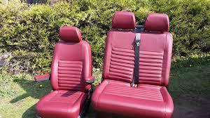 red leather t5 front seats vdub trimshop