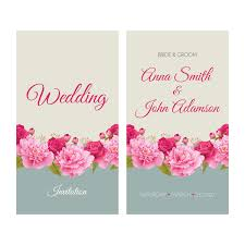 flower wedding invitation card retro vector 03 vector card