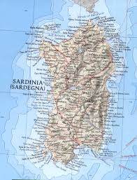 Map Of Southern Italy by Sardinia Italy
